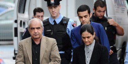 The fate of Tooba Yahya, 42, her husband Mohammad Shafia, 58, and their eldest son, Hamed, 21, is now in the hands of a jury in Kingston, Ont. The three are accused of killing their family over honour. Tooba Yahya, 42, and her husband Mohammad Shafia, 58, are charged alongside their eldest son, Hamed, 21, and have each pleaded not guilty to four counts of first-degree murder. Tooba Mohammad Yahya and husband Mohammad Shafia and their son Hamed Mohammed Shafia are escorted by police officers into the Frontenac County Court courthouse on the first day of trial in Kingston, Ontario on Thursday, October 20, 2011. THE CANADIAN PRESS/Sean Kilpatrick