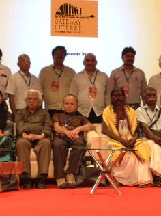 With Adoor Gopalkrishnan, Halder Nag, Cho, Ben, Shafiq and other literary luminaries and distinguished media personalities